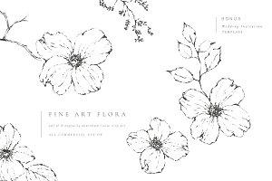 Fine Art Flora Clip Art
