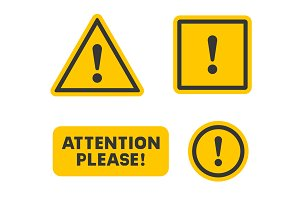 Attention Sign Set