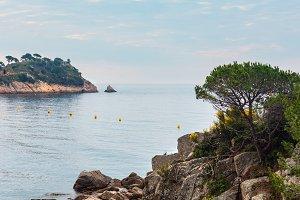 Summer sea coastline, Costa Brava