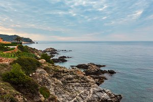 Summer sea coastline, Costa Brava, S
