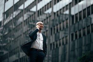 Businessman standing outdoors