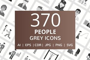 370 People Grey Icons