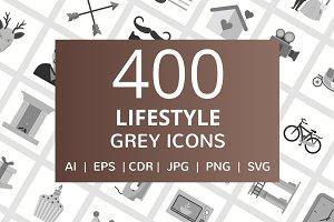 400 Lifestyle Grey Icons