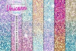 Unicorn Ombre Seamless Glitter