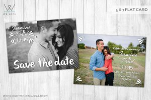 Save the date modern card template