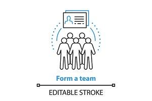Team gathering concept icon