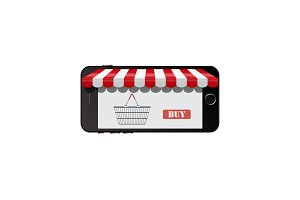 online shop on smart phone