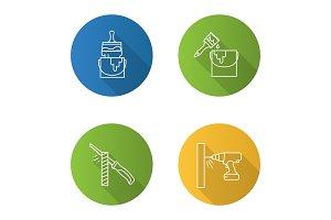 Construction tools icons set