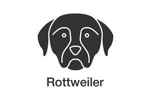 Rottweiler glyph icon