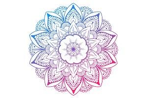 Mandala Vector Design Element. Round
