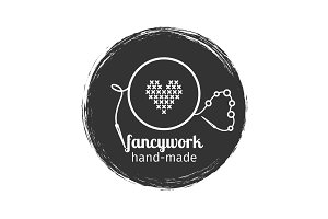 Embroidery and sewing vintage logo