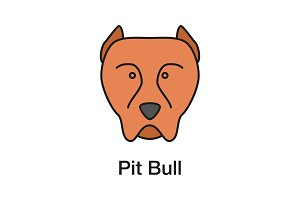 Pit bull color icon