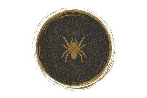 Vintage spider logo design