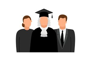 Judge, lawyer and procurator icons
