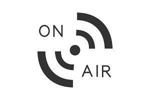 Radio signal glyph icon