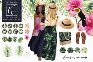 Tropical Fashion Travel Girl Set