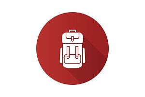 Camping backpack icon