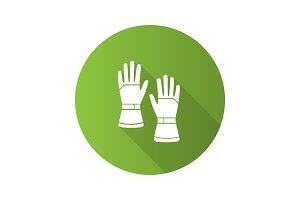 Winter ski gloves icon