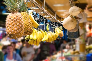 Fresh fruits at market