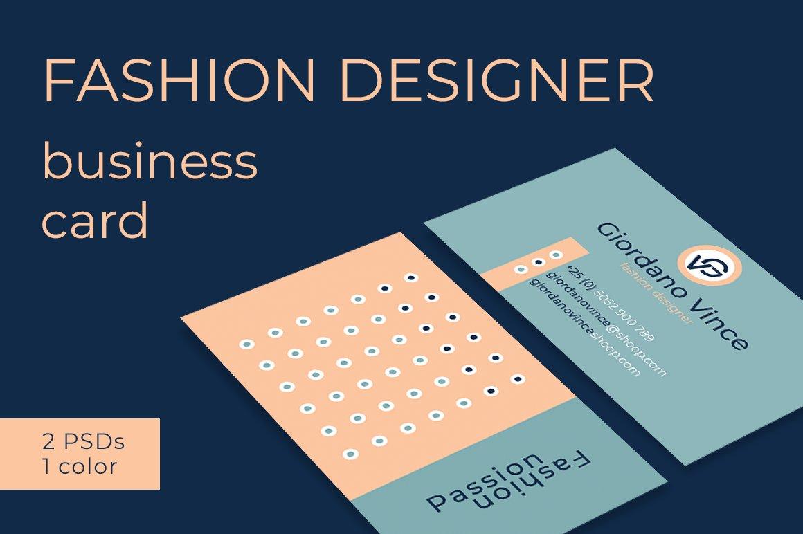 Fashion Designer Business Card Business Card Templates Creative