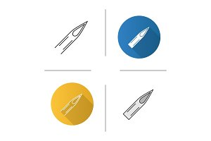 Tattoo needle tip icon