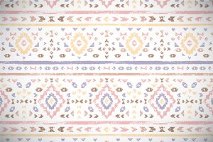 Pastel colored aztec grunge pattern