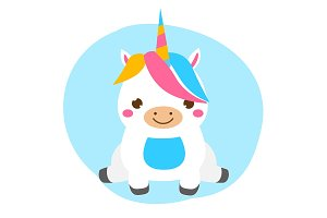 Cute baby unicorn