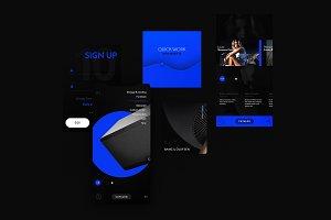 Black & Blue (Dark UI KIT)