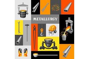 Metallurgical background design.