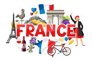 France background design.