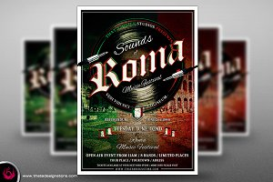 Sounds of Roma Flyer Template
