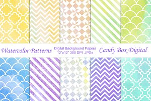 Watercolor Pattern Background Papers