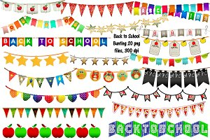 Back to School Bunting ClipArt