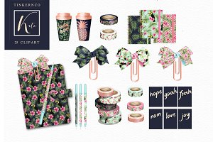 Tropical Planner Accessory Graphics
