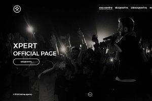 Barhome - One Page Singer Portfolio