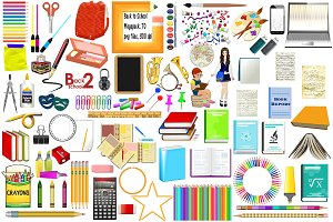Back to School Supplies ClipArt