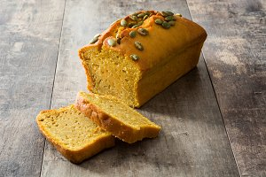 Homemade pumpkin bread
