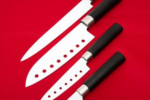 white knives sharp cutting