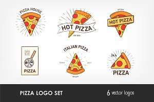 Logotypes with pizza slices