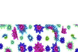 Horizontal Decorated Band Background