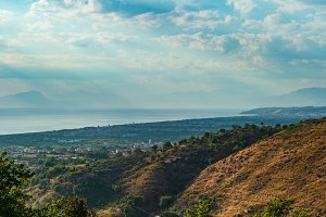Cosenza coast summer view, Italy