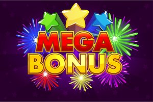 Vector MEGA BONUS banner for lottery