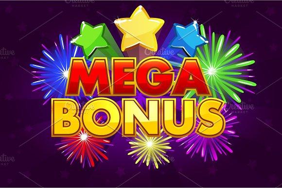 Vector MEGA BONUS banner for lottery