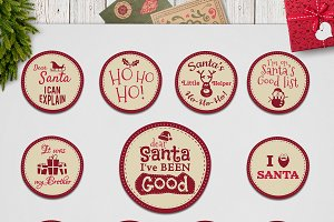 11 Funny Christmas Badges Collection