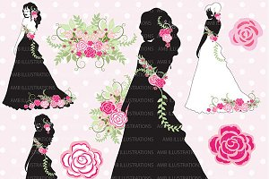 Wedding silhouettes clipart, AMB-877