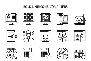 Computers and networking, bold line
