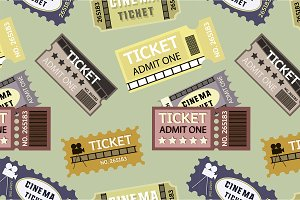 Old cinema tickets pattern