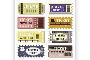 Old cinema tickets for cinema