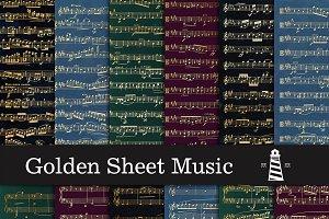 Golden Sheet Music Backgrounds