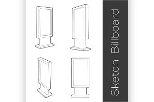 Sketch Blank Outdoor Billboard set